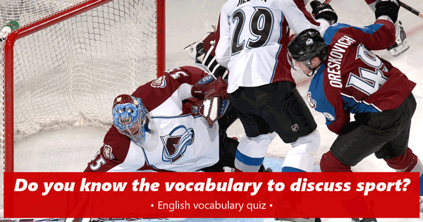 Sports vocabulary English quiz