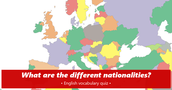 nationalities English quiz