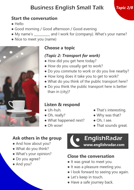 Business English small talk 2