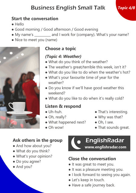Business English small talk 4