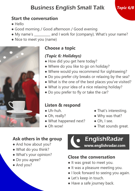 Business English small talk 6