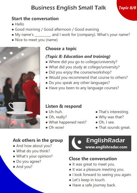 Business English small talk 8